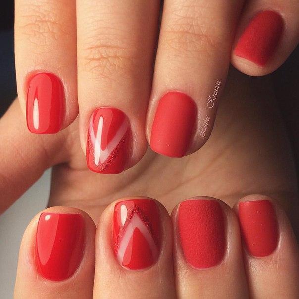 дизайн красных ногтей фото 2016