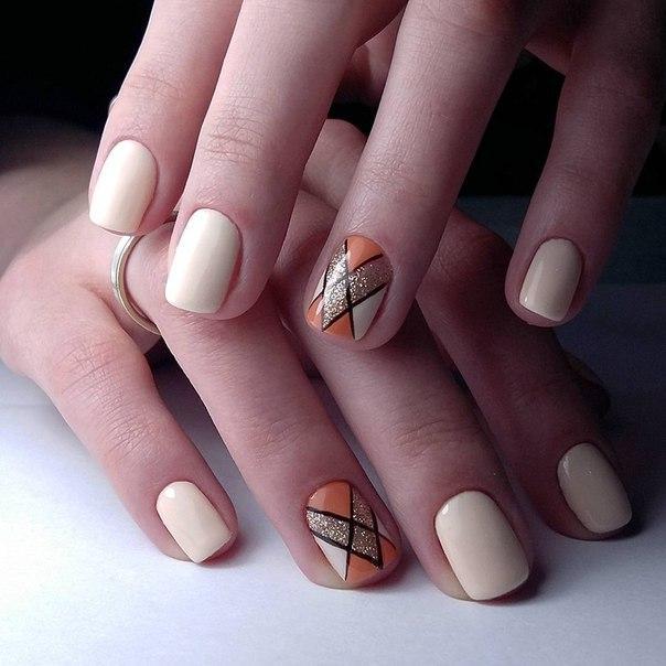 Идеи дизайна ногтей гель лаком на короткие ногти 47