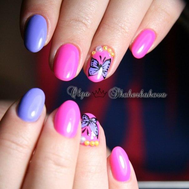 Дизайн фольгой на ногтях