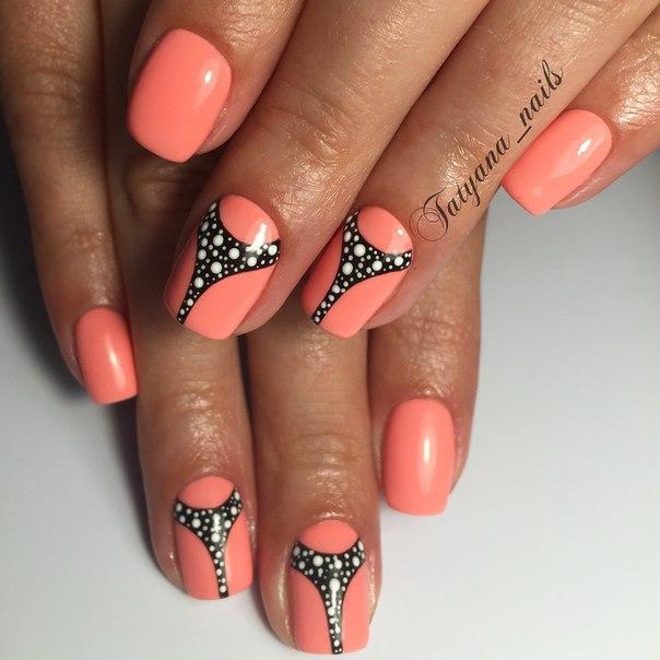 Фото дизайн на квадратных коротких ногтях