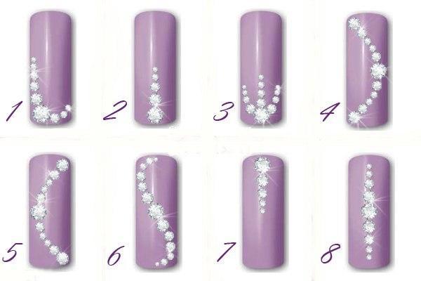 Роспись на ногтях русская
