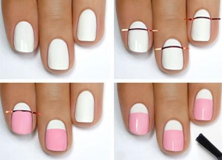 Как сделать полоски на ногтях дома 15