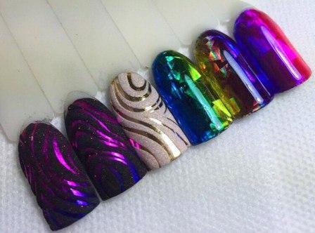 Витражные гели для ногтей
