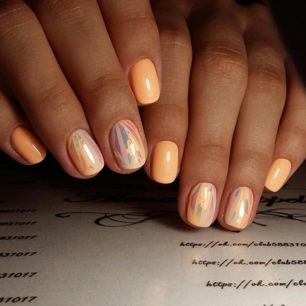 Фото дизайна битое стекло ногтей 2018 новинки