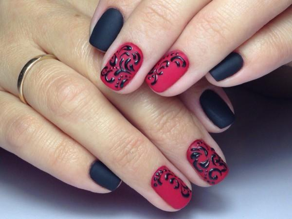 Дизайн гель лаком пошагово на коротких ногтях