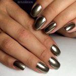 Зеркальный блеск для ногтей как делать