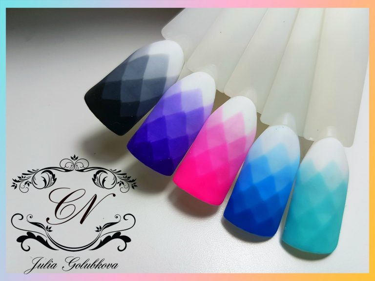 Дизайн ногтей градиент