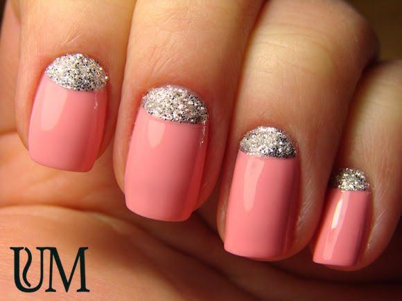Дизайн ногтей блестками и гель лаком