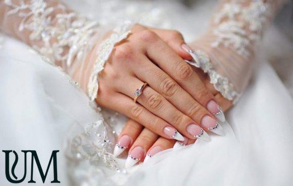 Французский маникюр невесты